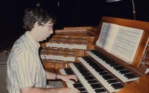"""Uitvoering van Liszts """"BACH"""" in de  kathedraalvan Pécz, Hongarije 1992"""