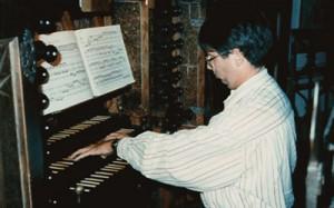 Concert op het Silbermann-orgel in de Dom te Freiberg 1993 (foto J.W.C. Lelie-Kemper)