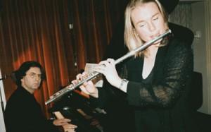 Met fluitiste Riëtte Beumer (foto Sandra Gallo)